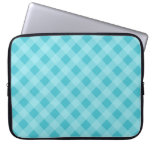 Dusty Aqua Gingham Laptop Sleeve