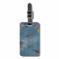 Dusty, Blade Ranger, And Cabbie Pattern Luggage Tag