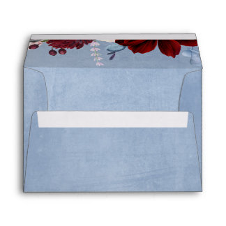 Dusty Blue and Burgundy Envelope
