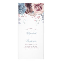 Dusty Blue and Mauve Floral Wedding Programs