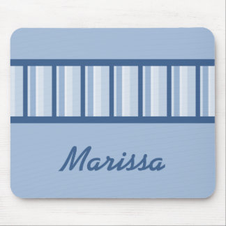 Dusty Blue Deco Personalized Mousepad