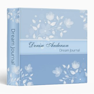 Dusty Blue Floral Dream Binder