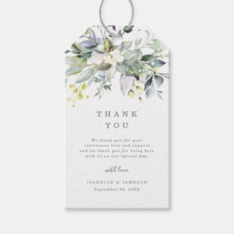 Dusty Blue Florals Gift Tags