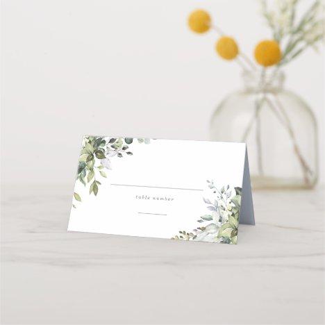 Dusty Blue Florals Place Card