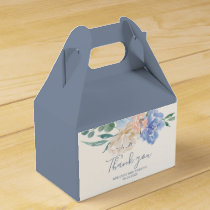 Dusty Blue Florals Thank You Favor Box
