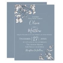 Dusty Blue Meadow Wedding Invitation