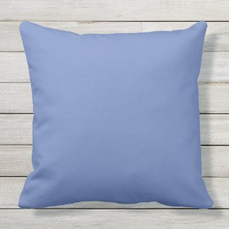 Dusty Blue Outdoor Throw Pillow 20x20