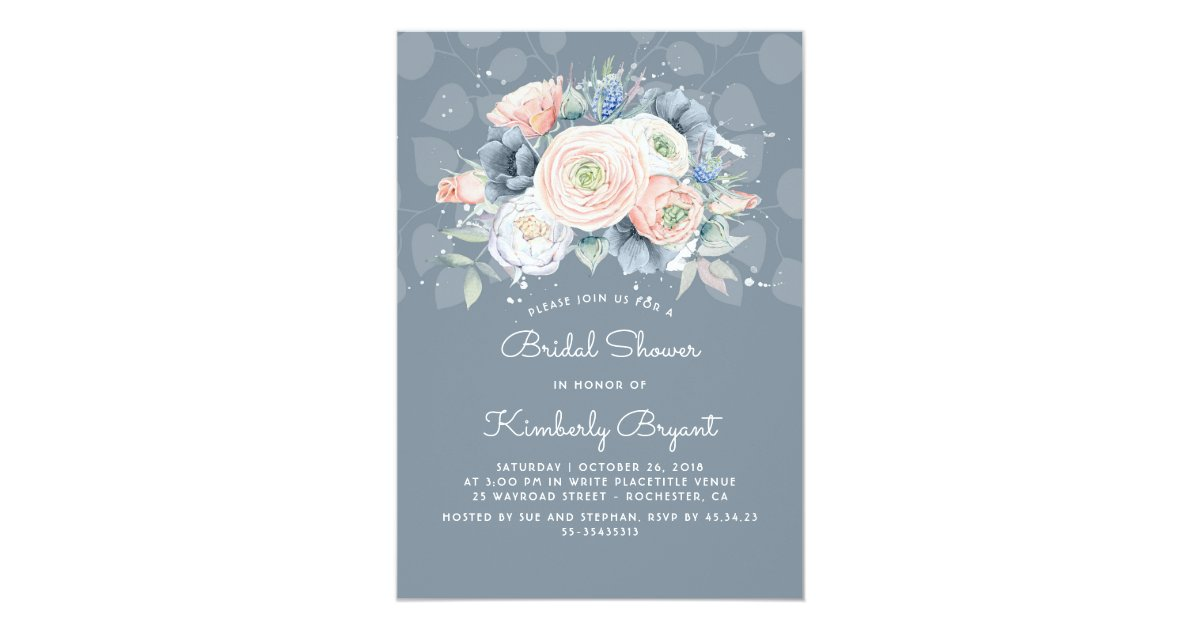 Dusty Blue Invitations & Announcements | Zazzle