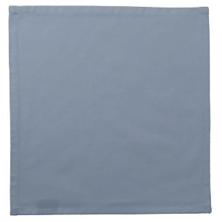 Dusty Blue Slate Grey Gray Solid Color Background Napkins