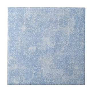 Dusty Blue Swirls Tile