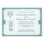 Dusty Blue VIP Wedding Ticket Invitations