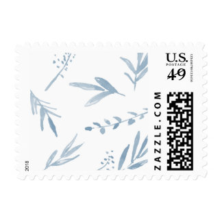 Dusty Blue Watercolor Postage
