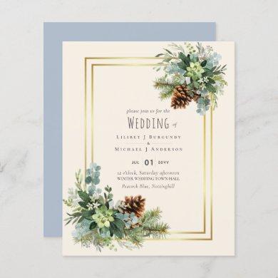 Dusty Blue Wedding Eucalyptus Greenery Budget