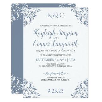 Dusty Blue Wedding Invitations | Elegant & Vintage