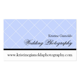 Dusty Blue Wedding Photography Business Card