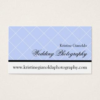 Dusty Blue Wedding Photography Business Card
