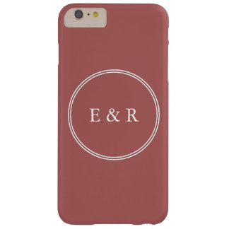 Dusty Cedar Brown with White Wedding Detail Barely There iPhone 6 Plus Case