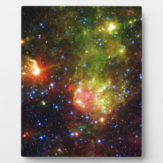 Dusty death of a massive star display plaques