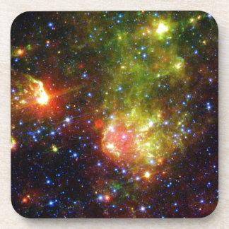 Dusty death of massive star NASA Beverage Coaster