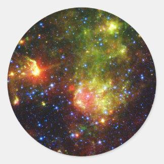 Dusty death of massive star NASA Classic Round Sticker