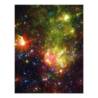 Dusty death of massive star NASA Letterhead