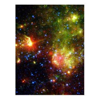 Dusty death of massive star NASA Postcard