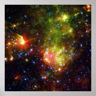 Dusty death of massive star NASA Poster