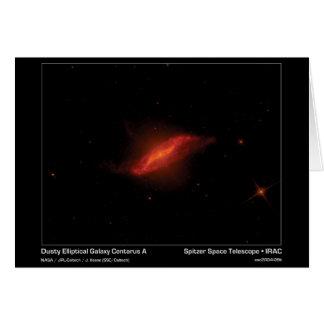 Dusty Elliptical Galaxy Centarus A – Spitzer Space Card