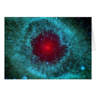 Dusty Eye of Helix Nebula NGC 7293 Card