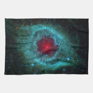 Dusty Eye of Helix Nebula NGC 7293 Hand Towel