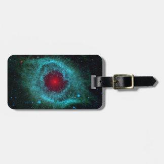 Dusty Eye of Helix Nebula NGC 7293 Luggage Tag
