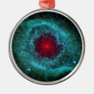 Dusty Eye of Helix Nebula NGC 7293 Metal Ornament