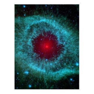 Dusty Eye of Helix Nebula NGC 7293 Postcard
