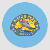 Dusty Fire Rescue Crew Badge Classic Round Sticker