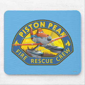 Dusty Fire Rescue Crew Badge Mouse Pad