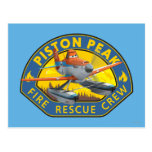 Dusty Fire Rescue Crew Badge Postcard