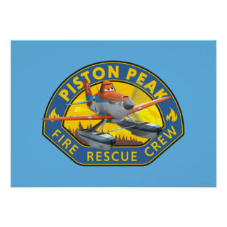 Dusty Fire Rescue Crew Badge Poster