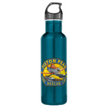 Dusty Fire Rescue Crew Badge Water Bottle