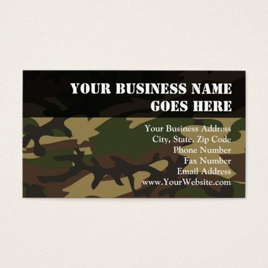 Dusty Green Camo Business Card
