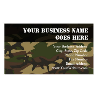 Dusty Green Camo Business Card Template