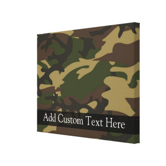 Dusty Green Camo Gallery Wrapped Canvas