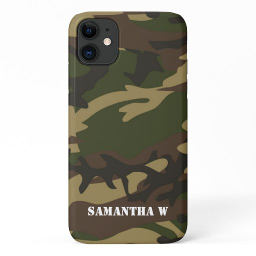 Dusty Green Camo iPhone 11 Case