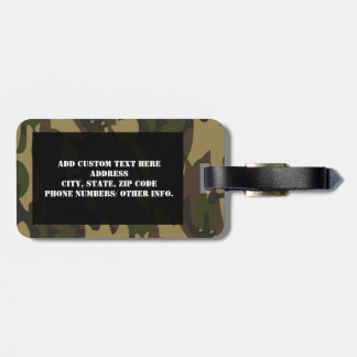 Dusty Green Camo Travel Bag Tags