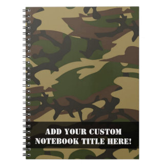 Dusty Green Camo Spiral Note Books