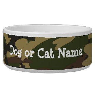 Dusty Green Camo Pet Water Bowl