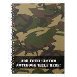 Dusty Green Camo Spiral Note Book