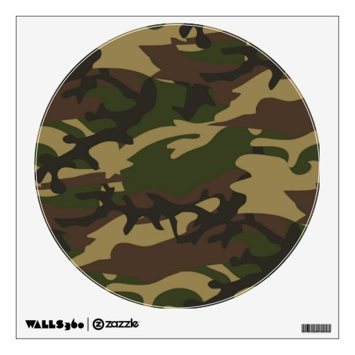 Dusty green camo wall stickers zazzle for Camouflage wall mural