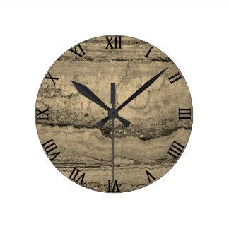 Dusty grey Granite Round Clock
