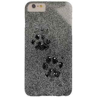 Dusty Grungy Cat Paw Pad Prints Barely There iPhone 6 Plus Case