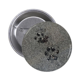 Dusty Grungy Cat Paw Pad Prints Button